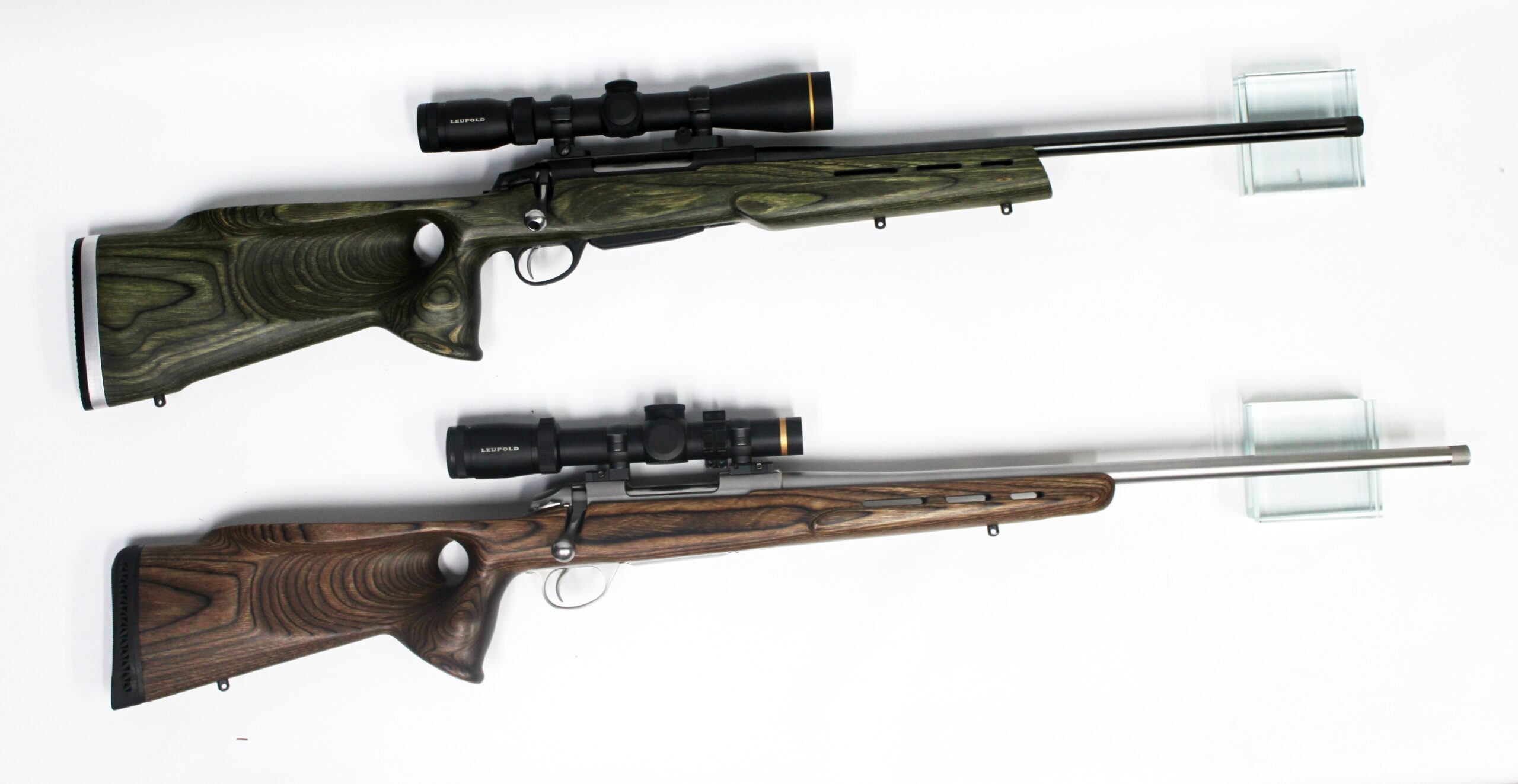 Tikka T3 green & Sako 85 varied brown